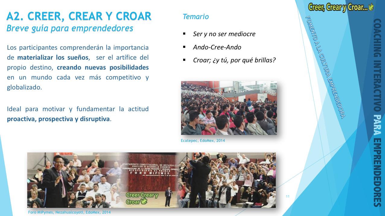 A2 - CREER, CREAR Y CROAR.- Breve guía para emprendedores