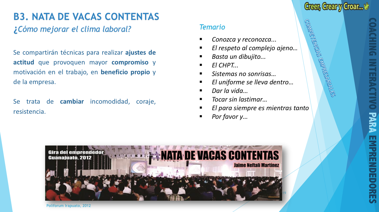 B3 - NATA DE VACAS CONTENTAS.- Cómo mejorar el clima laboral