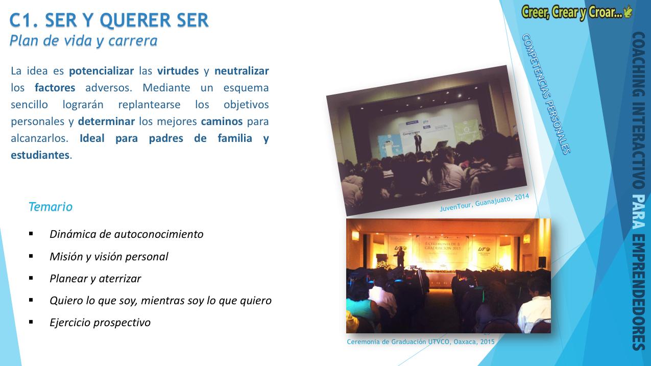 C1 - SER Y QUERER SER.- Plan de vida y carrera