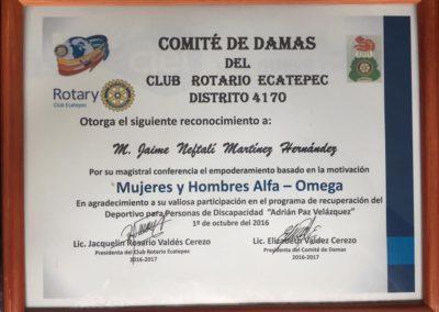 Comite de Damas del Club Rotario Ecatepec Distrito 4170