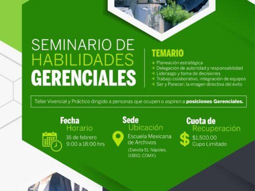 Seminario de Habilidades Gerenciales- 16 de febrero del 2019